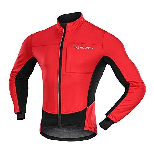 FZYQY Chaqueta de Ciclismo para Hombre, Chaqueta de Ciclismo térmica, Prueba de Viento Térmico Manga Larga MTB para Invierno Otoño para Mountain Bike MTB/A/XXL