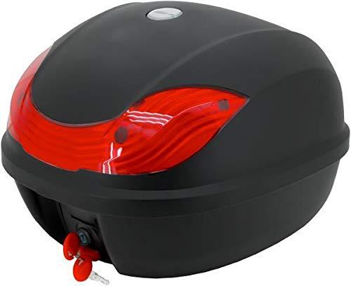 Masteract Motorradkoffer Top Case Helmkoffer Rollerkoffer 30 Liter Füllvolumen Topcase universal für Roller Motorräder Mofas und Quads