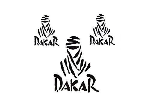 Set de décalques Dakar Noir Mat
