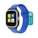Cosmo JrTrack 2 Kids Smartwatch   Blue   4G Voice Calling   Text, Voice, & Image Messaging   Enhanced GPS   Blocks Unknown Callers   SIM Card Included