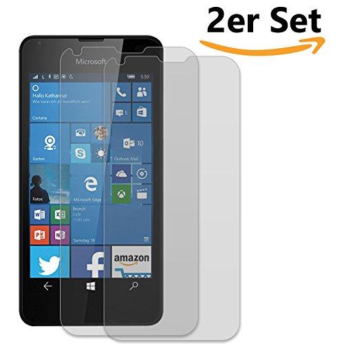 Conie SE12049 2er Set 9H Panzerfolie Kompatibel mit Microsoft Lumia 950 XL, 2X Panzerglas Schutz Folie Anti-Öl, Anti-Finger Print Gorilla Glas für Lumia 950 XL Handyfolie (2 Stück) 2X Glasfolie