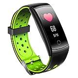 FUNSHINNY Q8L 0,96 pulgadas Círculo completo Toque completo Correa de acero Smart Watch IP6 Reloj inteligente a prueba de agua Rastreadores de fitness, soporte Monitoreo de frecuencia cardíaca en tiem