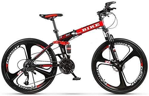 -Foldable Montaña 24/26 Pulgadas, Bicicletas de MTB con 3 Cortador de Ruedas,...