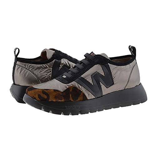 WONDERS - Zapatillas Animal Print Casual - Cuero para: Mujer Color: GHEPARD/Nylon NACAR/Trend Cuero/Bronce/Negro Talla: 41