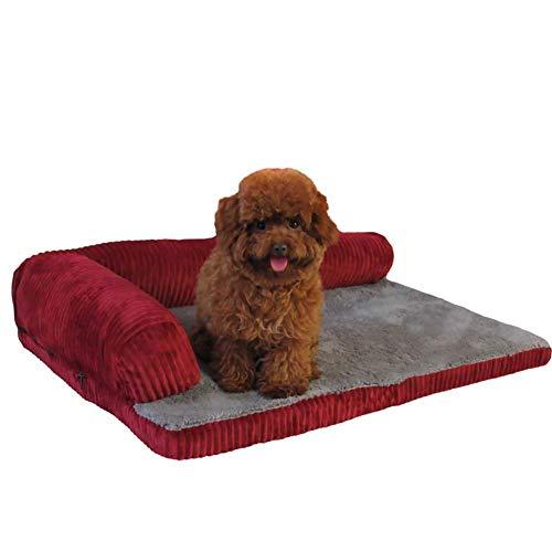 Hai Ying huisdier bed wasbaar kleine grote hond bed voor Crate pluche hond bank kat huis met bot Applique huisdier nest, kat nest kennel gemakkelijk schoon te maken 70x50cm Stijl3
