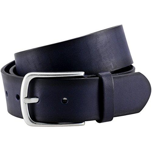 LINDENMANN The Art of Belt Ledergürtel Herren/Gürtel Damen unisex, Vollrindleder, marine, Größe/Size:110, Farbe/Color:blau