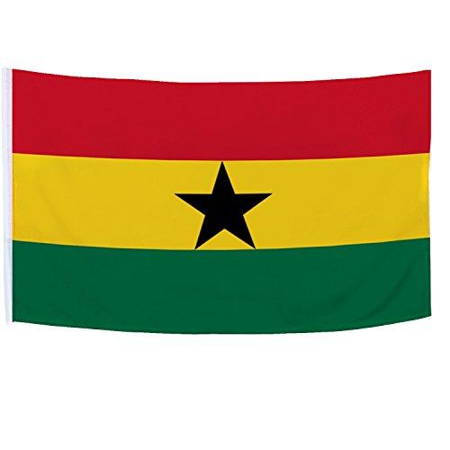 Brubaker Stockflagge Ghana Fahne Flagge 150 x 90 cm Handfahne (ohne Flaggenstock)