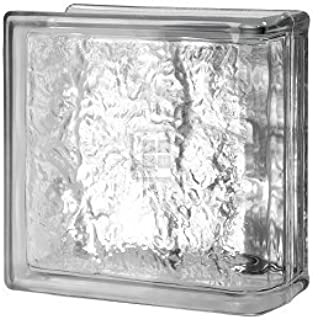 Quality Glass Block 8 x 8 x 4 Cortina End Block Glass Block