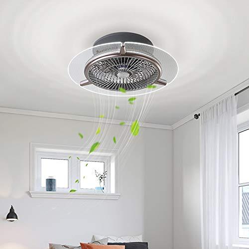 Deckenventilator mit Beleuchtung, Deckenventilator Fan LED Deckenlampe, 3 Geschwindigkeit einstellbar & 3 Farben dimmbar mit Fernbedienung, 48W Moderne led Deckenleuchte für Schlafzimmer Wohnzimmer