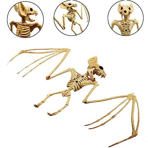 Yalatan Fledermaus/Echsenknochen Tierskelett Modell für Halloween, Horror Party Dekoration Horrorfilm Requisiten Halloween Ornament