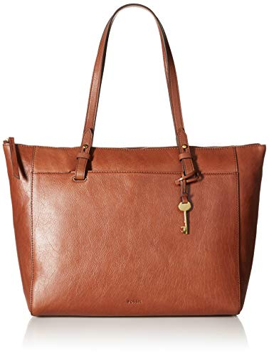 Fossil Women's Rachel Leather Tote Handbag, Medium Brown