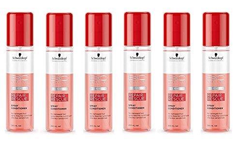 Schwarzkopf - Spray-Baume Nutritif Intense pour Cheveux Sensibilisés - Repair Rescue - Pack of six (6x 200ml)