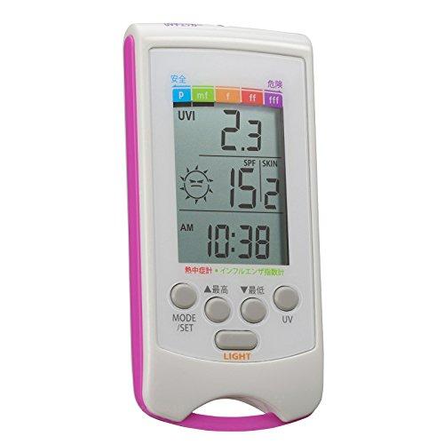 カスタム (CUSTOM) UVチェッカー 乾燥指数・熱中症指数計機能つき UVH-01
