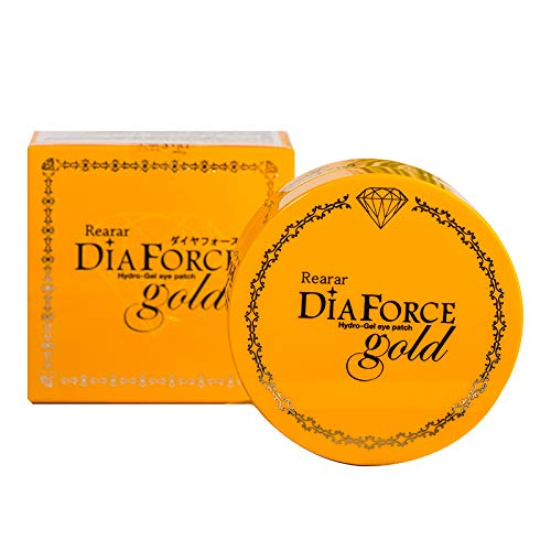 Rearar Diaforce Hydro-Gel Eye Patch Gold Collagen Eye Pads Anti-aging Hyaluronic Acid Eye Patches For Anti Dark Circles,Puffiness And Wrinkle, 1 Pack Of 30 Pairs