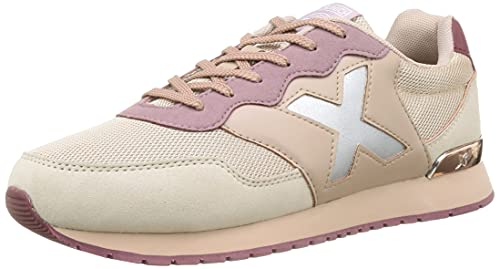 Munich Dash Women Premium Laces 108, Zapatillas Mujer, Beige, 39 EU