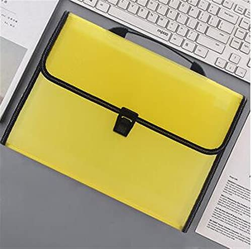 Multi-Layer PP Art Portable Organ Package Student Paper Folder Information Buckle A4 Filing Storage 13 into Document Bag (Color : D)