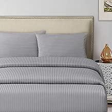 Silver Queen Size 245 x 245 cm Hotel Linen Duvet Cover