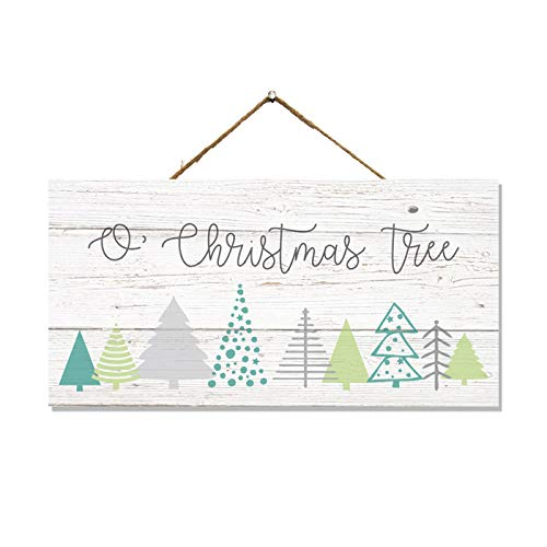 Chico Creek Signs O Christmas Tree Wood Sign Christmas Decor Wooden Decorations Holiday Wreath Porch Rustic Hanging Ornament Small Door Gift 5x10 SP-05101001006
