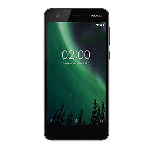 Nokia 2 Version 2017 Dual Sim Smartphone - (5 Zoll HD Dislpay, 8MP Hauptkamera, 5MP Frontkamera, Extra Lange Akkulaufzeit, Robustes Gehäuse, Weckfunktion, Pure Android) Schwarz