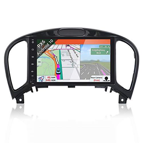 JOYX PX6 Android 10 Autoradio Navigatore per NissanJukeJ152012-2019 | 4G/64G | GPS 2 DIN | Telecamera Gratuiti | 8 Pollici| Supporto HDMI 4K-Video AHD-Camera DAB 4G WLAN Bluetooth Carplay Volante