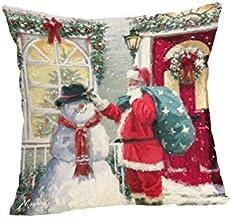 Pengcher Christmas Santa Pillow Case Cushion Cover Decor Home Sofa Bed Pillowcase