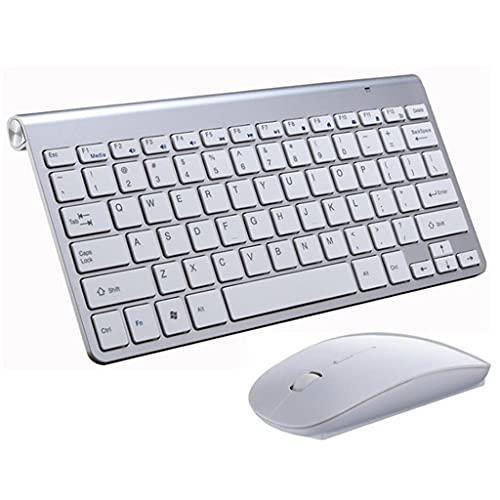 PVDR Mini Juego De Teclado Y Mouse Inalámbricos USB De 2.4G Teclado Y Mouse Combo Silencioso para Computadora Portátil Mac Escritorio PC Computadora Smart TV PS4 (Color : C)