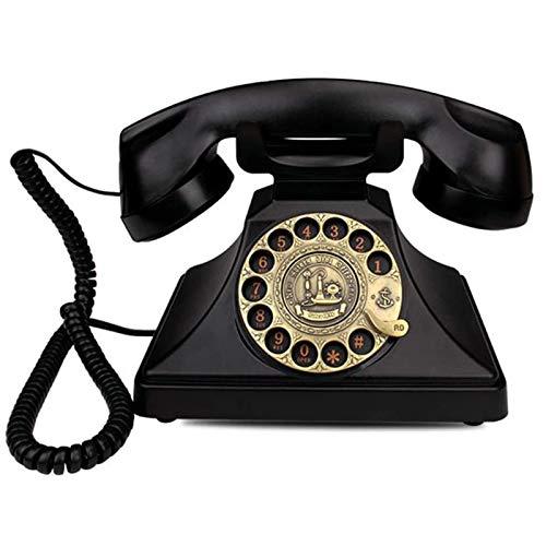 ZHAOH Línea Fija Retro Teléfono Retro Teléfono Rotary Rota Réplica Teléfono Antiguo, Vintage Retro Landline House Home Teléfono Auricular Teléfono Decorativo