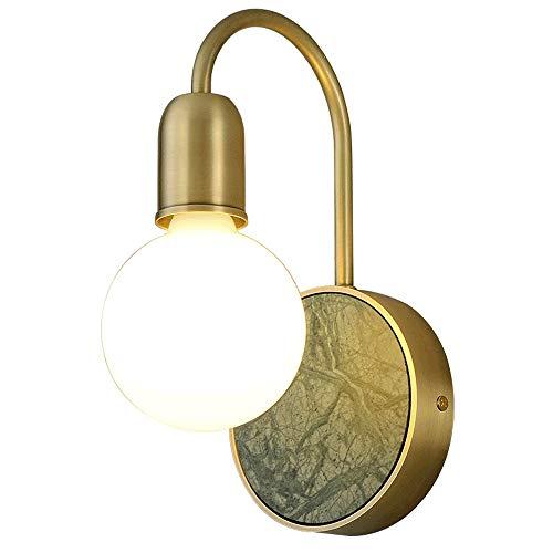 SVHK Aplique de Pared de luz nórdica Retro Mármol de la lámpara Titular Crema Pantalla de Cristal de Cobre Cuerpo de la lámpara de Pared de la Sala de la Linterna de Noche lámpara de Pared Decoración