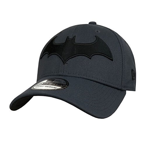 New Era Batman Hush Symbol 39Thirty Fitted Hat- Medium/Large Gray
