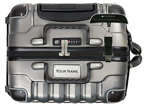 Bundle - 2 items: VinGardeValise 8 Bottle Wine Travel Suitcase with Personalizable nameplate, FlyWithWine Digital Luggage Scale - Silver