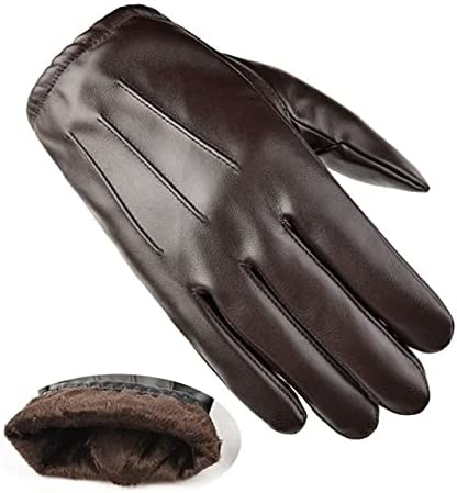 UKKO Winter Gloves Gloves Fashion Men Winter Autumn Warm Thermal Snow Mittens Outdoor Five Finger Wrist Gloves