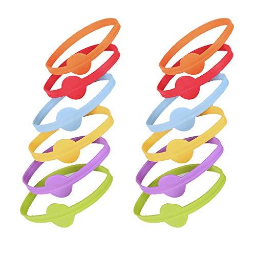 YouU 12 Pezzi Marcatori per Bevande Marcatore per Etichette per Strisce di Vetro Marcatori Bicchieri Anello in Silicone per la Barra Domestica del Partito