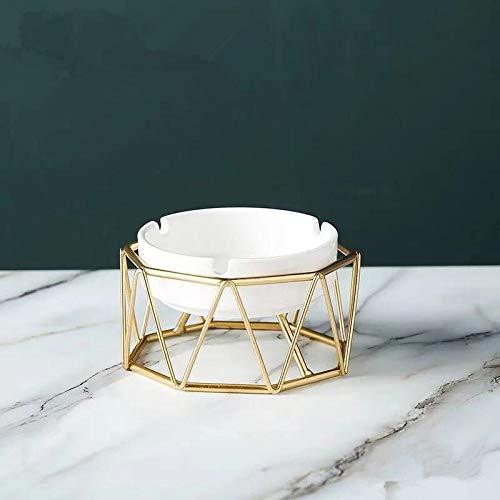 YYQLLXH Decoración creativa del cenicero geométrico, cenicero de cerámica de la oficina en casa, decoración de escritorio del cenicero hueco-A1