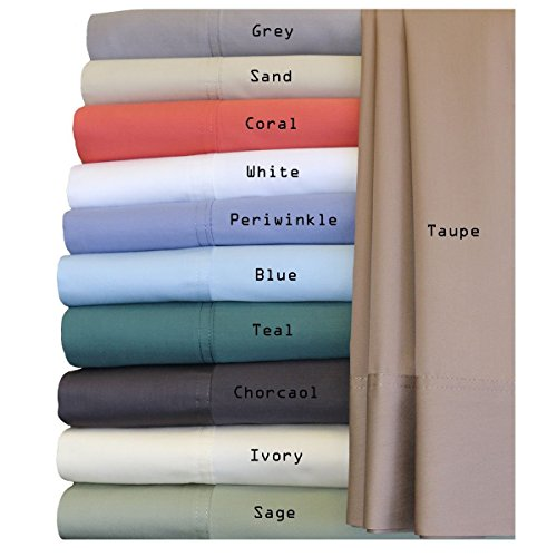 Royal Hotel Silky Soft Bamboo Cotton Sheet Set, 100% Bamboo-Cotton Bed Sheets, Queen Size, Charcoal