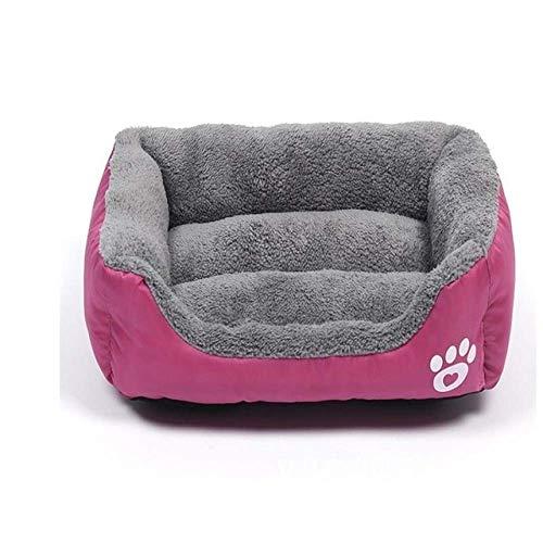 Hondenbed Pet Products Tatten-Print-Zwinger voor Small Medium Large honden puppy's Nest zachte warme kat bed waterdicht huisdier huisdieren huisdieren huisdieren huisdieren XXL, 95x72cm 8bayfa (color : roze, maat: M 54x42cm)