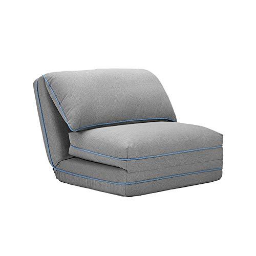XJAXY Falten Schlafsofa Boden Couch Folding Moderne Chaise Lounge Cabrio Polster Perlgarn Polsterkissen Gast Sleeper Stuhl, Herausnehmbar Und Waschbar Entwurf,Grau
