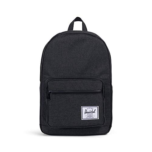Herschel Unisex-Erwachsene Pop Quiz Multipurpose Backpack, Schwarze Kreuzschraffur/Schwarz, Classic 22L