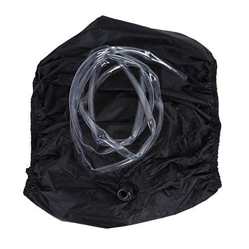 VIFERR Air Conditioner Cover, Zwarte Airco Waterdichte Beschermer, Anti Stofzak Wassen Gereedschap met 3 m Waterpijpen