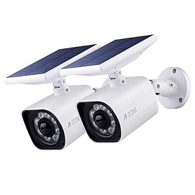 A-ZONE Solar Lights Outdoor, 8 LED Wireless Motion Sensor Light, IP66 Waterproof Security Lights for Yard,Garden,Driveway,Fence