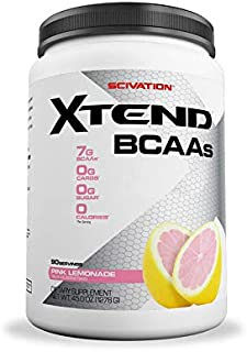 XTEND Original BCAA Powder Pink Lemonade   Sugar Free Post Workout Muscle Recovery Drink with Amino Acids   7g BCAAs for Men & Women  30 Servings