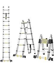 FIXKIT 3.8M Escalera Plegable Aluminio
