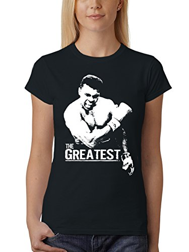 clothinx Damen T-Shirt Fit The Greatest Schwarz Gr. L