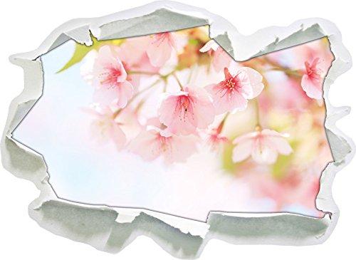 Zarte Kirschblüten an Baum , Papier 3D-Wandsticker Format: 92x67 cm Wanddekoration 3D-Wandaufkleber Wandtattoo