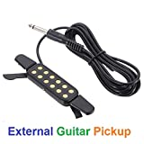 Acoustic Guitar Pickup Acoustic Classic Clip-On Guitar Pickup Sound Amplify and Transducer parts Accessories of Guitars.