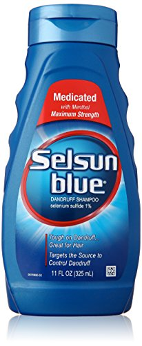 Selsun Blue Medicated Maximum Strength Dandruff Shampoo, 11 Fl Oz, Pack of 1