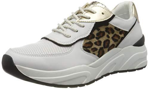 Marco Tozzi 2-2-23745-34, Zapatillas para Mujer, Multicolor (White/Leo 146), 41 EU