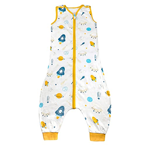 MOEMOE BABY Newly Baby Sleep Sack with Legs Toddler Sleeping Sack with Footholes Sleeveless Toddler Wearable Blanket with Feet Early Walker Sleep Sack Baby Wearable Blanket with feet, M, 18-36 Months