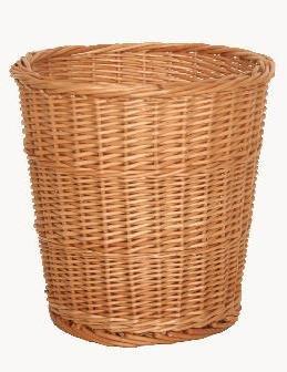 Choice Baskets Natural Round Willow Wicker Waste Basket Bin