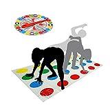 Twister Juego,Juegos de Suelo Gaming Familiar Tapete de Juego para Movimientos Corporales Niños...
