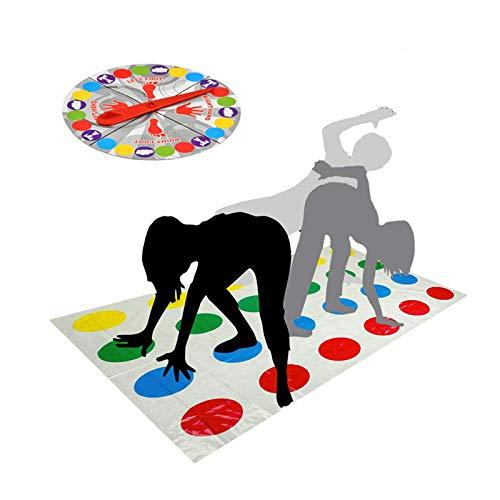 Twister Juego,Juegos de Suelo Gaming Familiar Tapete de Juego para Movimientos Corporales Niños Adultos Fiesta Picnic Deporte al aire libre